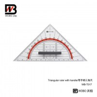 triangular ruler with handle
