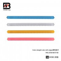 color straight ruler with edges