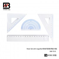 ruler set with magnifier